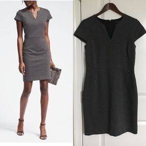 Banana Republic Short Sleeve Ponte Sheath Dress